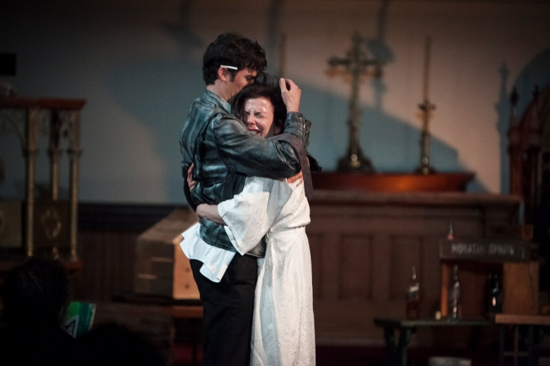 With Thomas Beaudoin as Val in the Provincetown production 2011