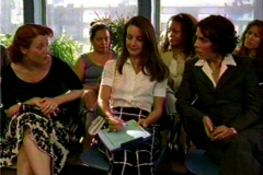 """In a """"Sex and the City"""" scene with Kristen Davis and Liz Canavan"""